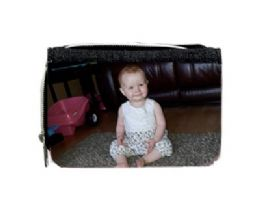 Personalised Photo Purse Black Photo Purse With Photo Canvas Personalised With Any Photo, Text